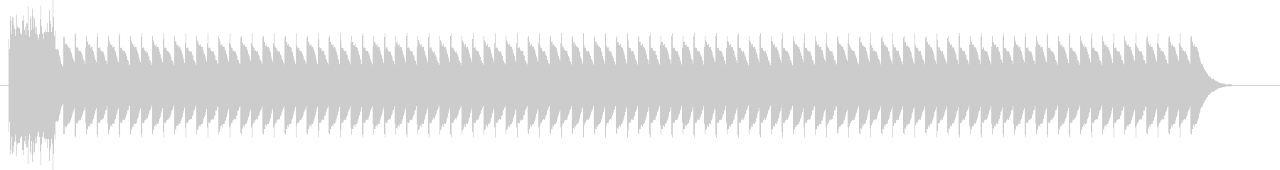 鉄道サウンド ATS警報音の未再生の波形
