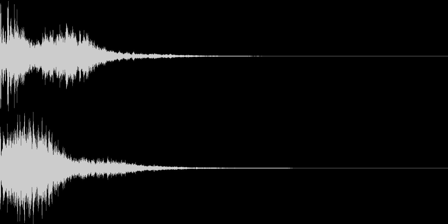 決定音55_シンセZの未再生の波形