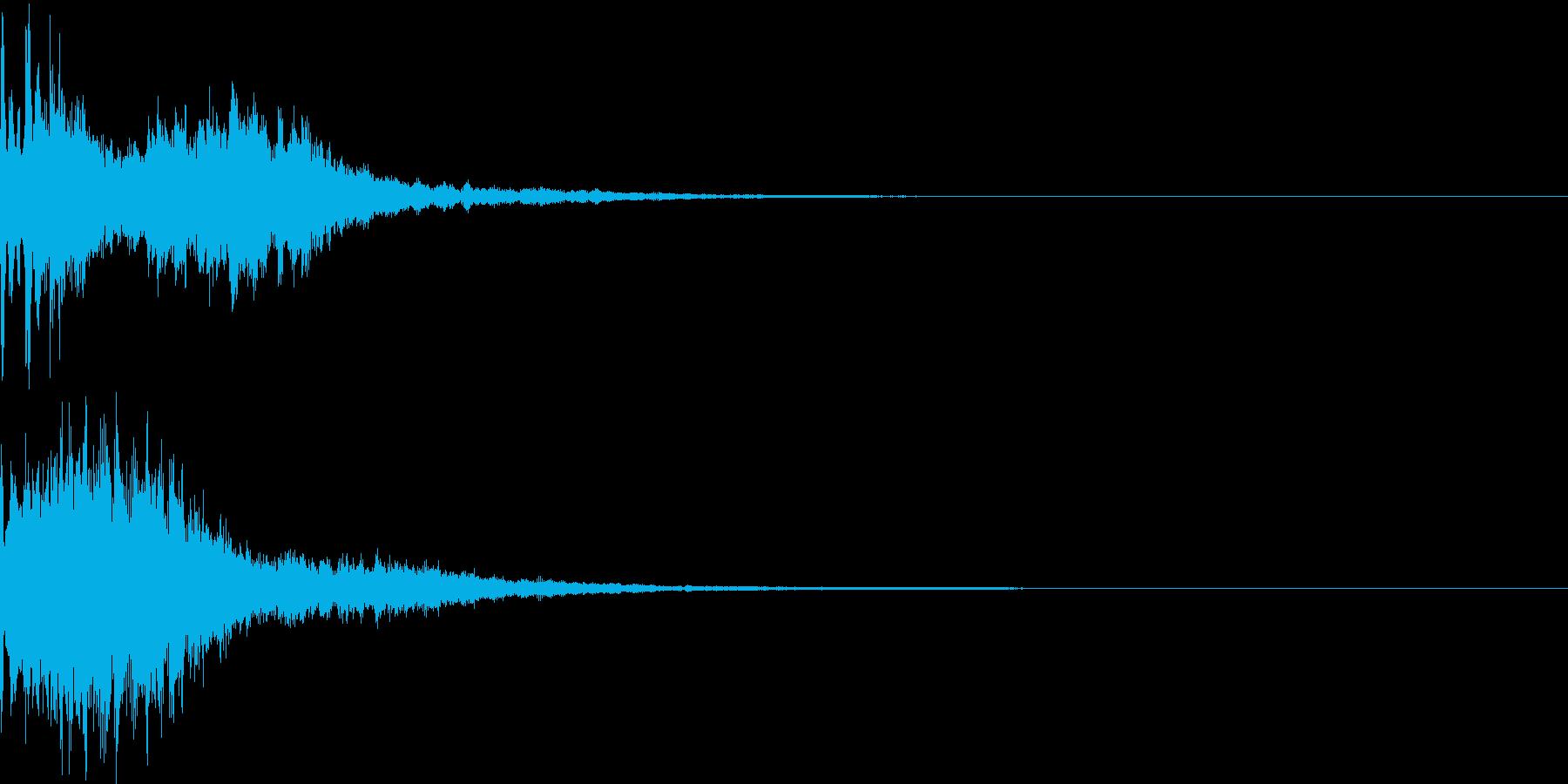 決定音55_シンセZの再生済みの波形
