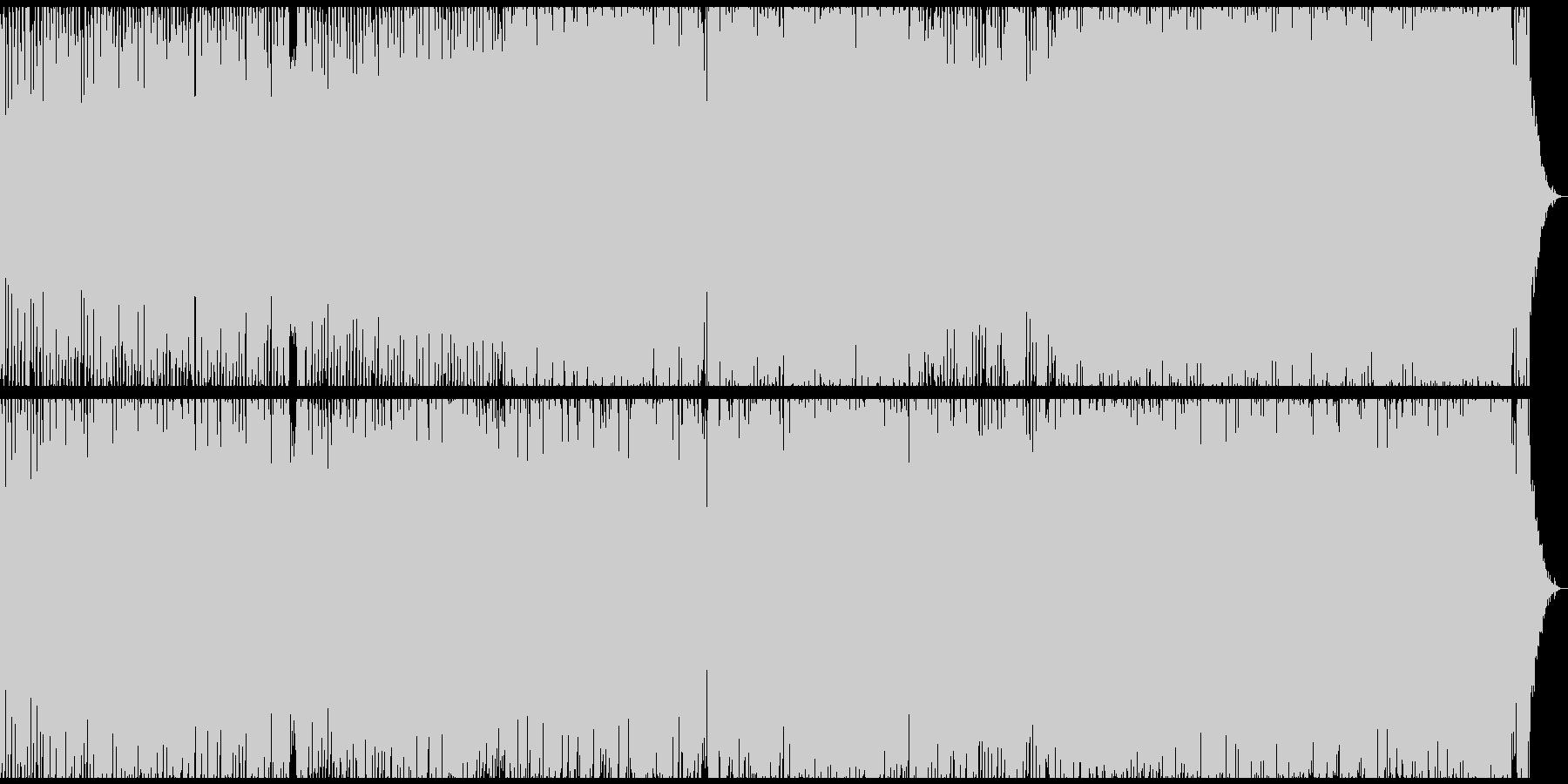 切ないが元気のあるメロディのテクノポップの未再生の波形