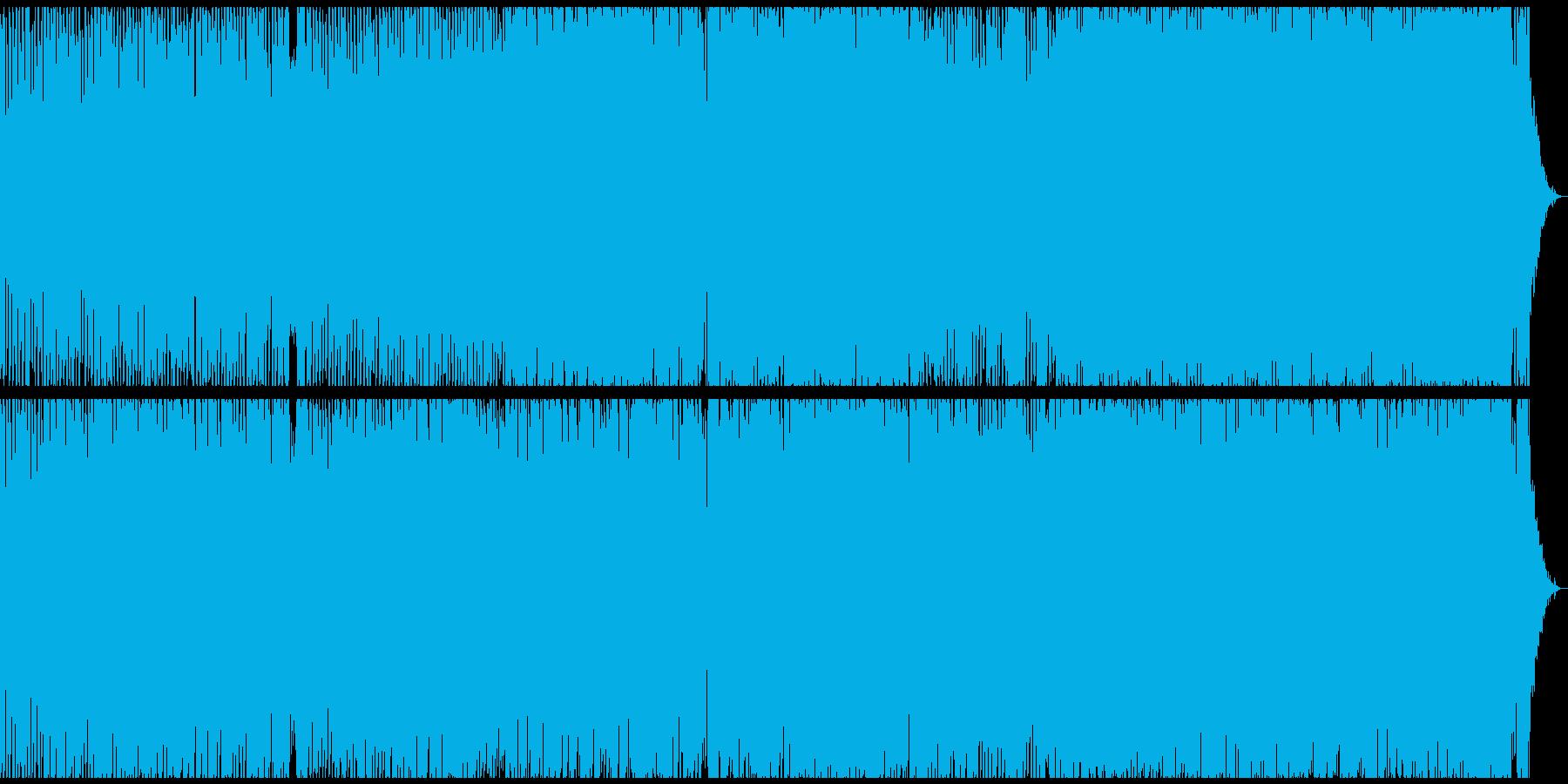 切ないが元気のあるメロディのテクノポップの再生済みの波形
