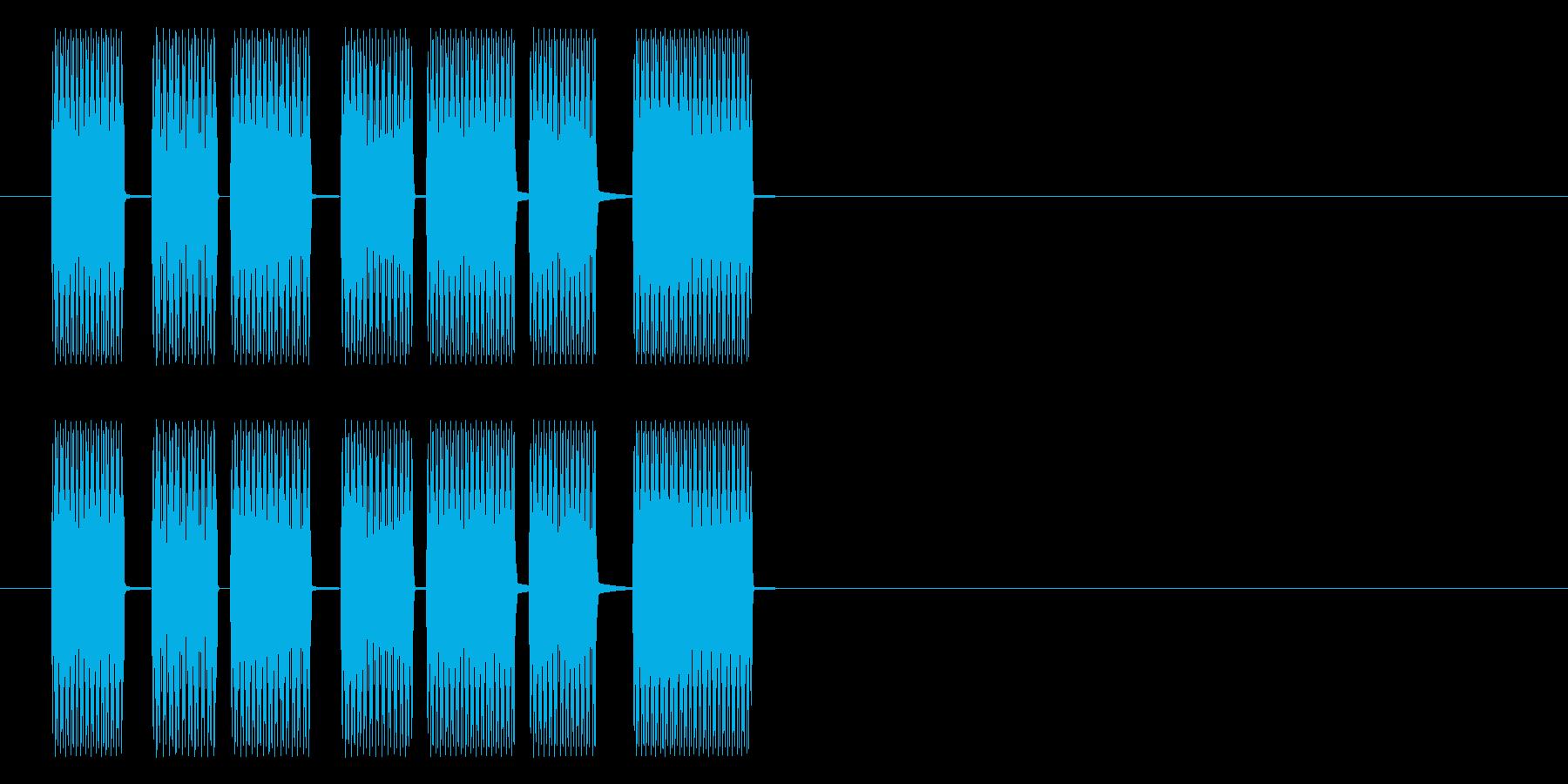 ティロリロリロリの再生済みの波形