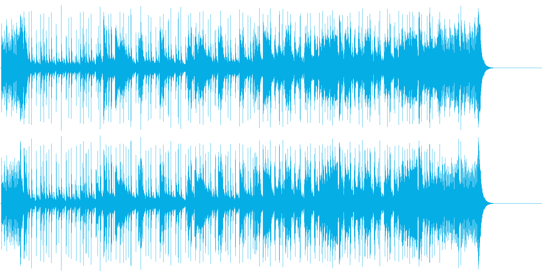 ファンキーなポップ/フュージョンの再生済みの波形