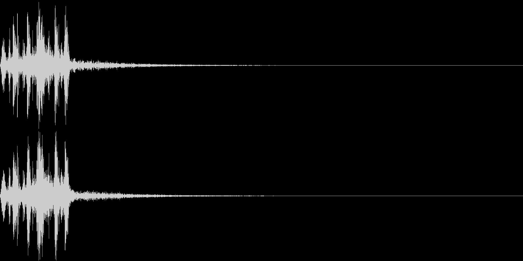 Camera 室内撮影 シャッター音 5の未再生の波形