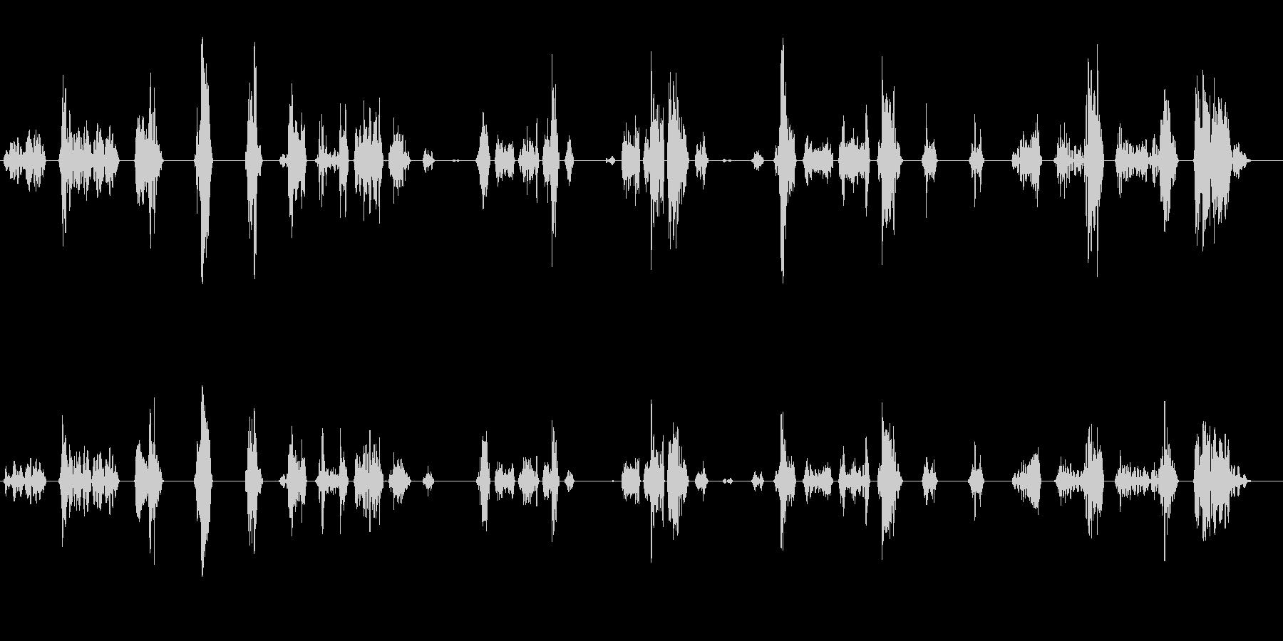 ゲームのスライムが動く時の音の未再生の波形