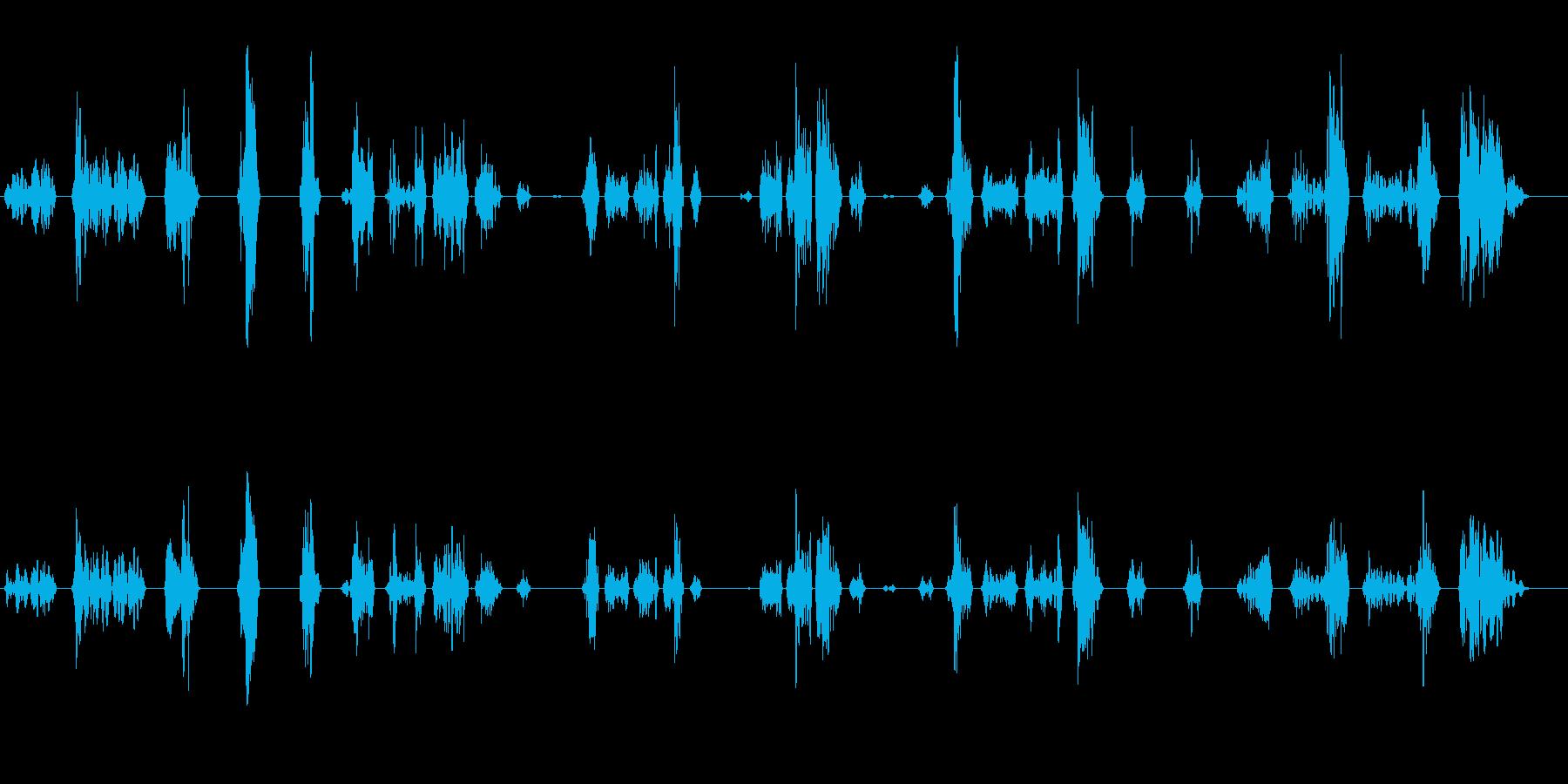 ゲームのスライムが動く時の音の再生済みの波形