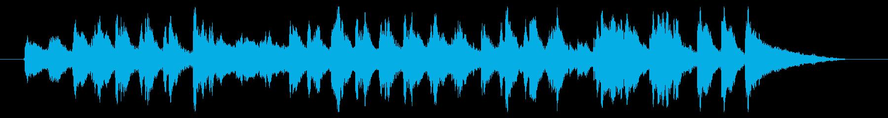マリンバのキャッチーなジングルの再生済みの波形