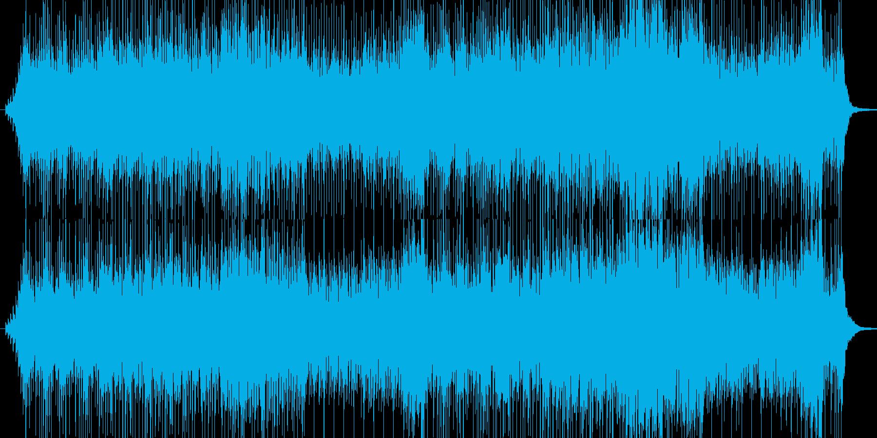 太鼓の重い音楽の再生済みの波形