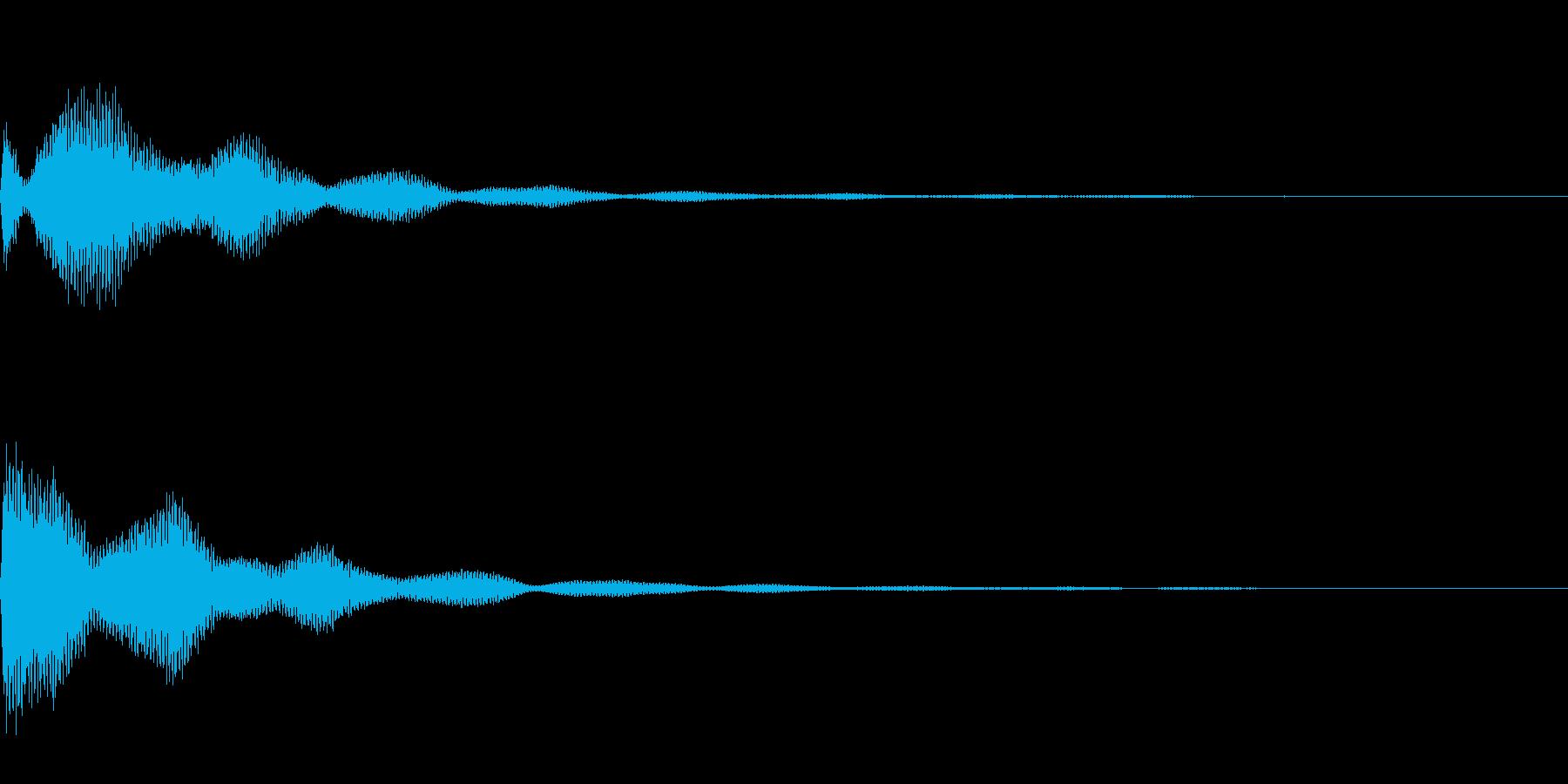 サスペンスっぽい怪しいエレピの音の再生済みの波形