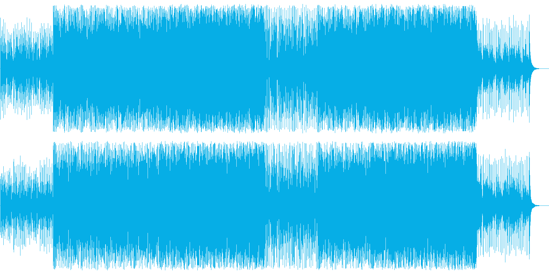 落ち着きのあるギターベースのボサノバの曲の再生済みの波形