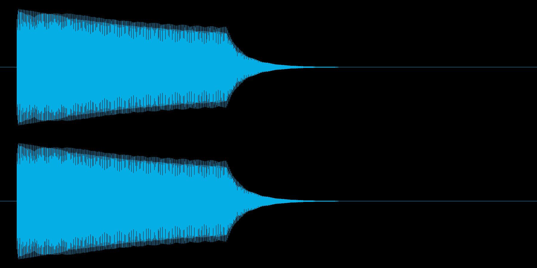 ビィヨォ~~~ンの再生済みの波形