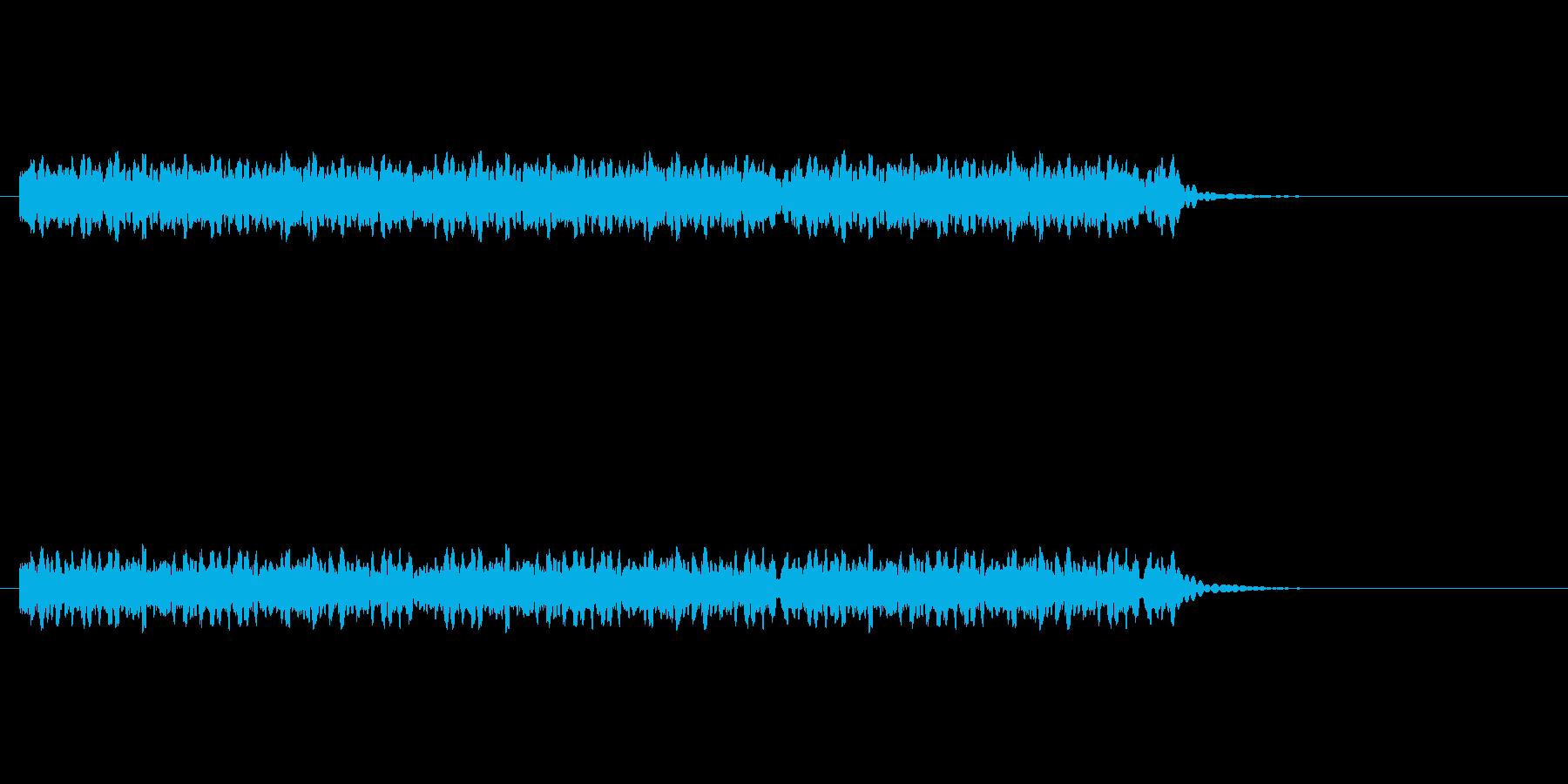 発車サイン音の再生済みの波形