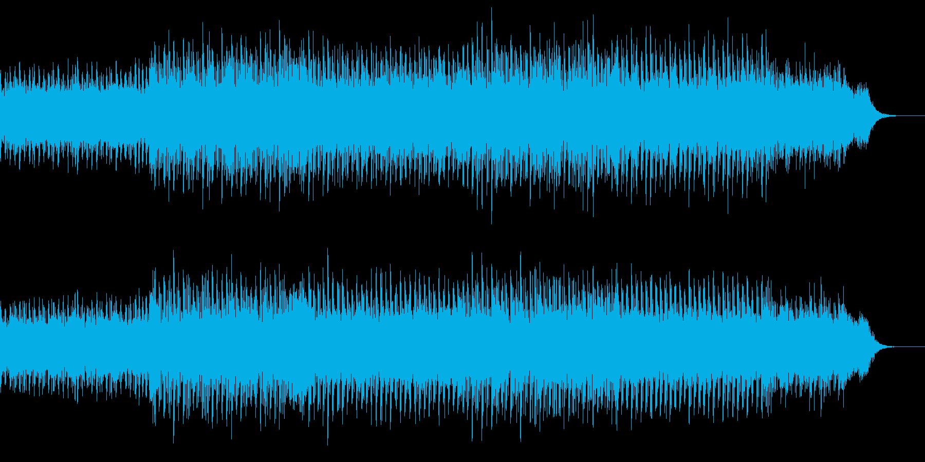 未来の都市のイメージのシンセサイザー音楽の再生済みの波形