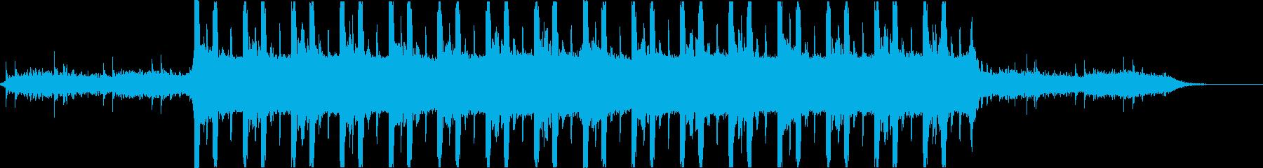 クールでエレクトロでパワフルなビートの再生済みの波形
