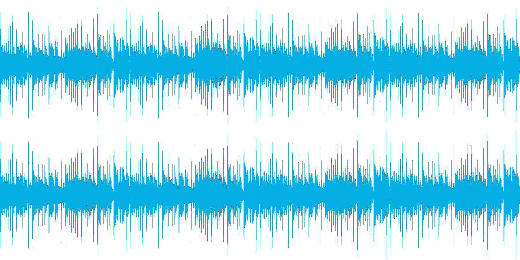 おしゃれで軽快なループ用BGMの再生済みの波形