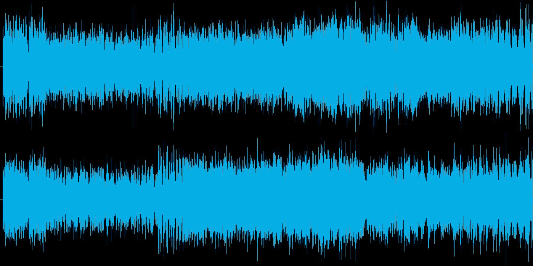 オーケストラによる戦闘曲の再生済みの波形