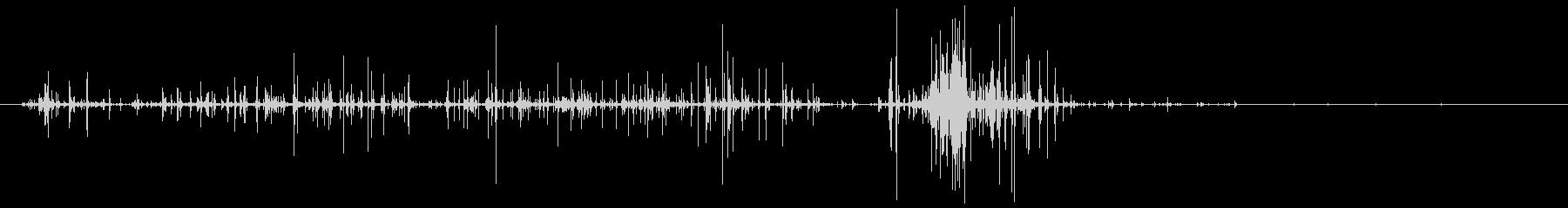 ビニールの小袋を開ける音の未再生の波形