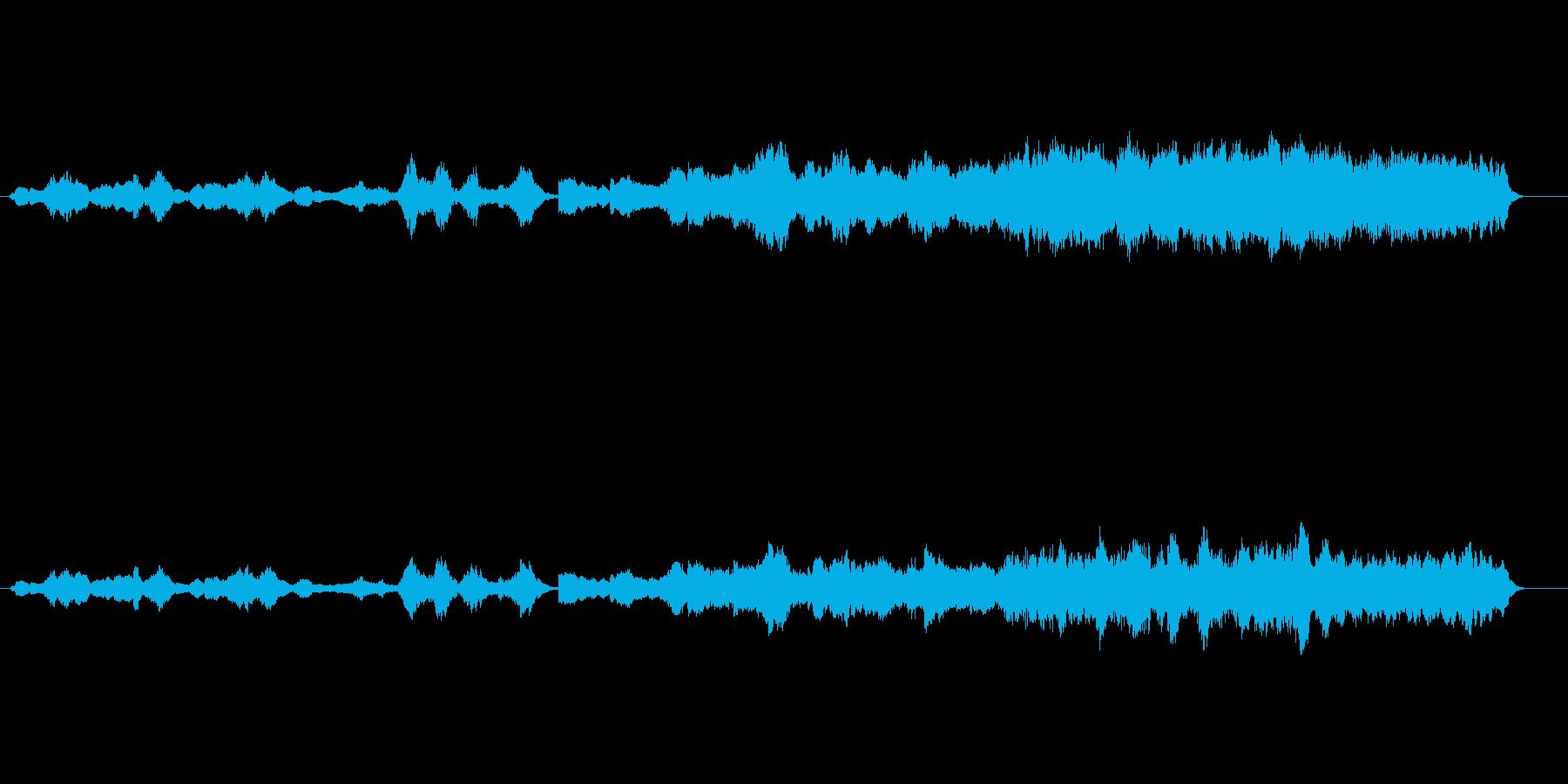 環境音楽風(惑星誕生)の再生済みの波形