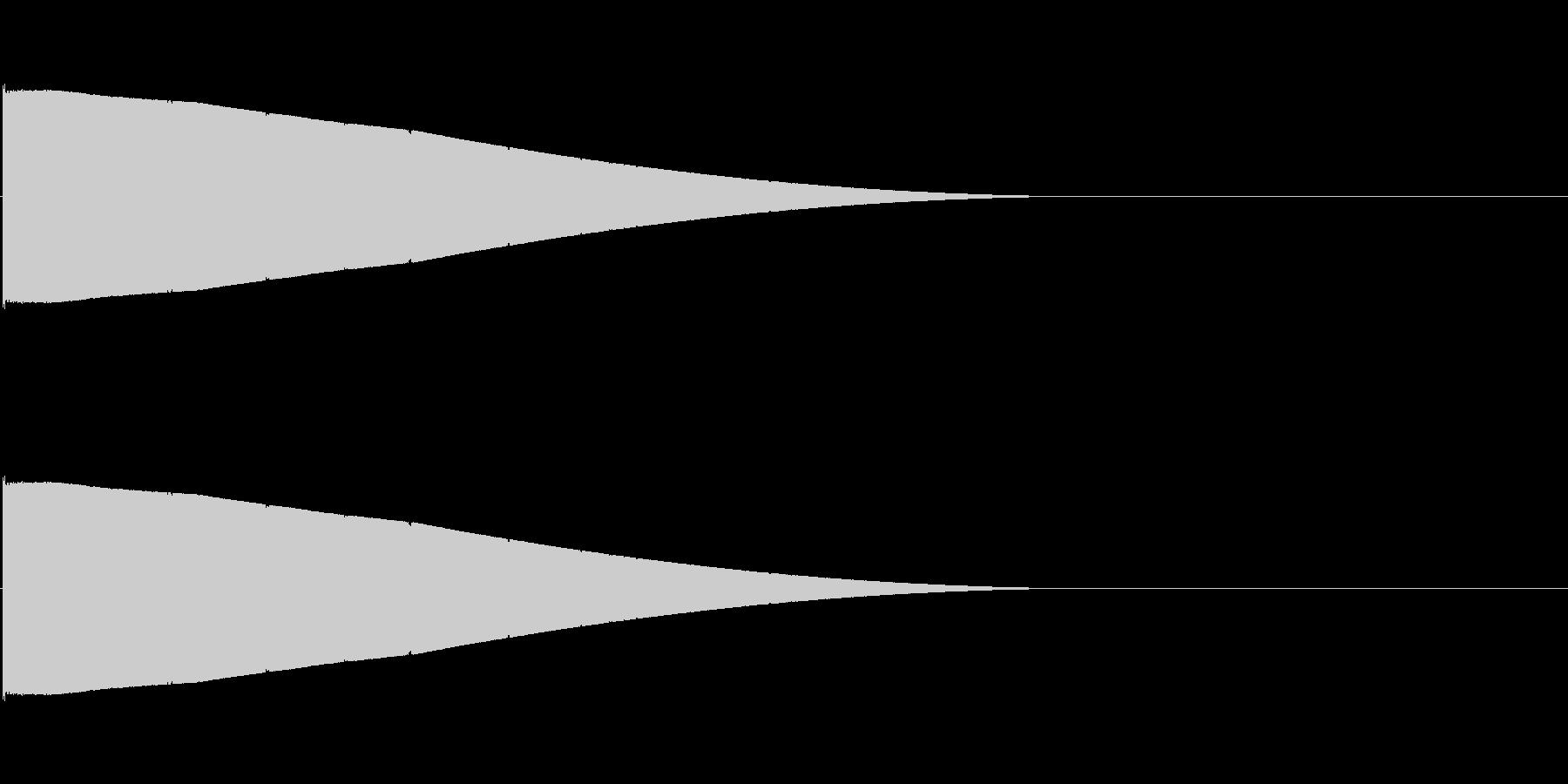 シンプルな飛ばされる音(長距離)の未再生の波形