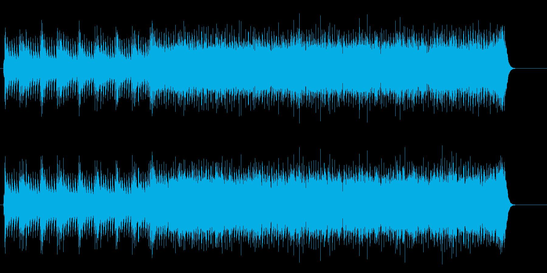 アメリカン・スケールのパワフルなギターの再生済みの波形