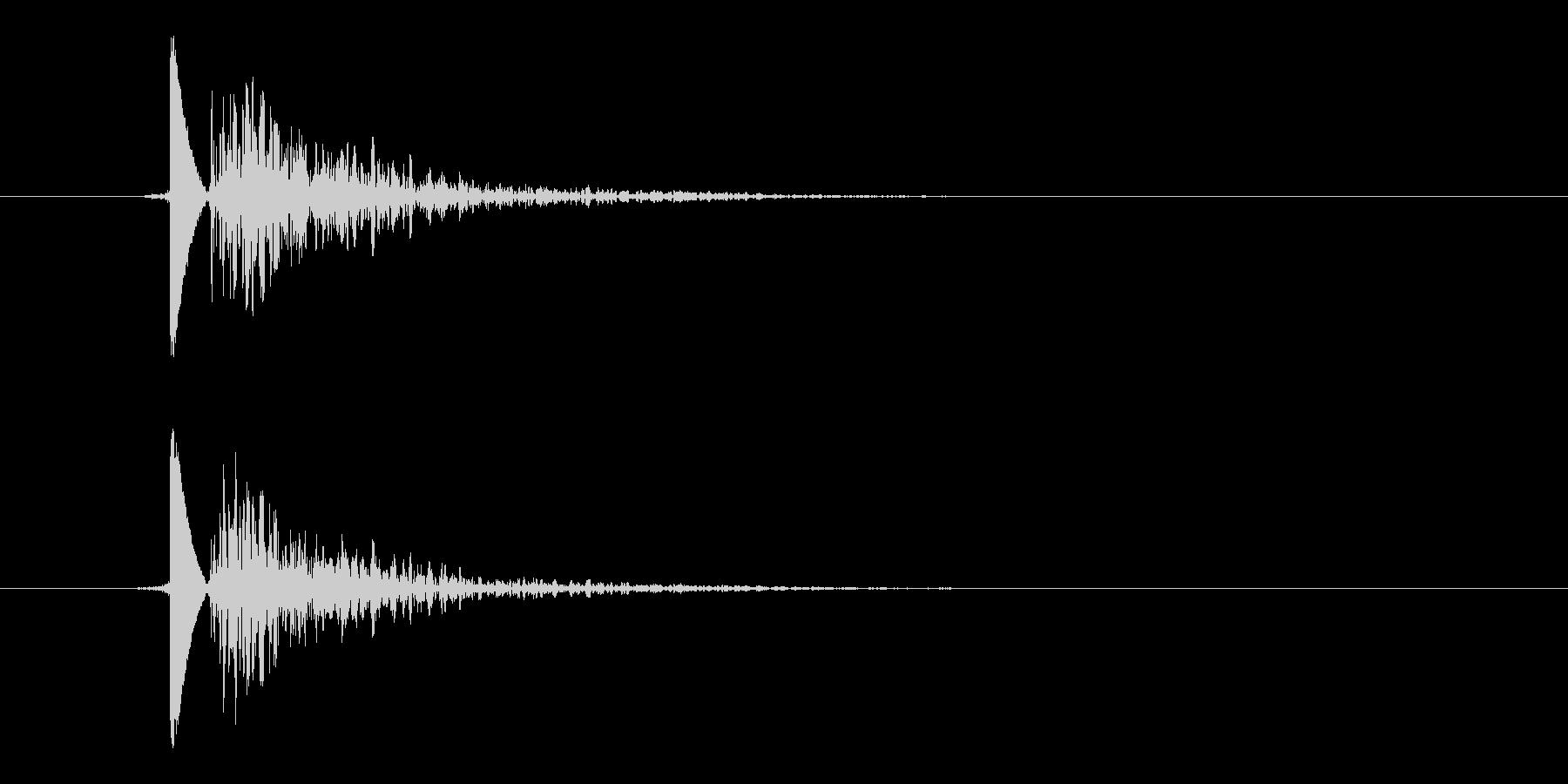 風船破裂音(パンッ!!)の未再生の波形