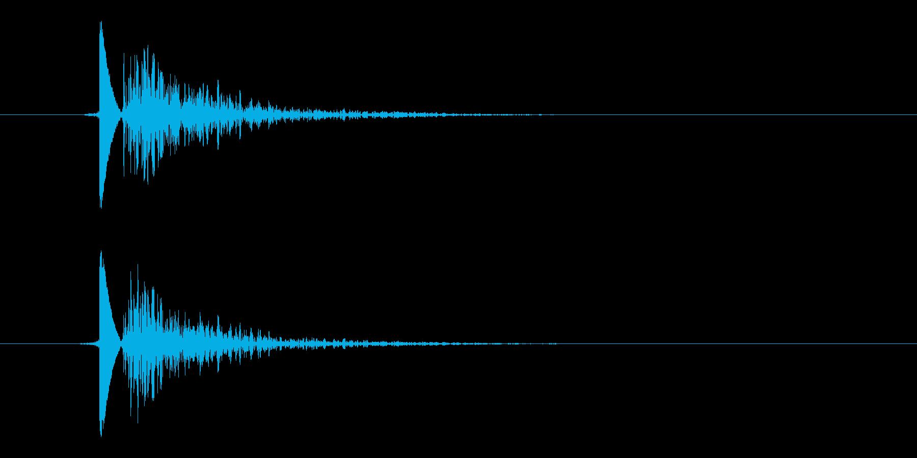 風船破裂音(パンッ!!)の再生済みの波形