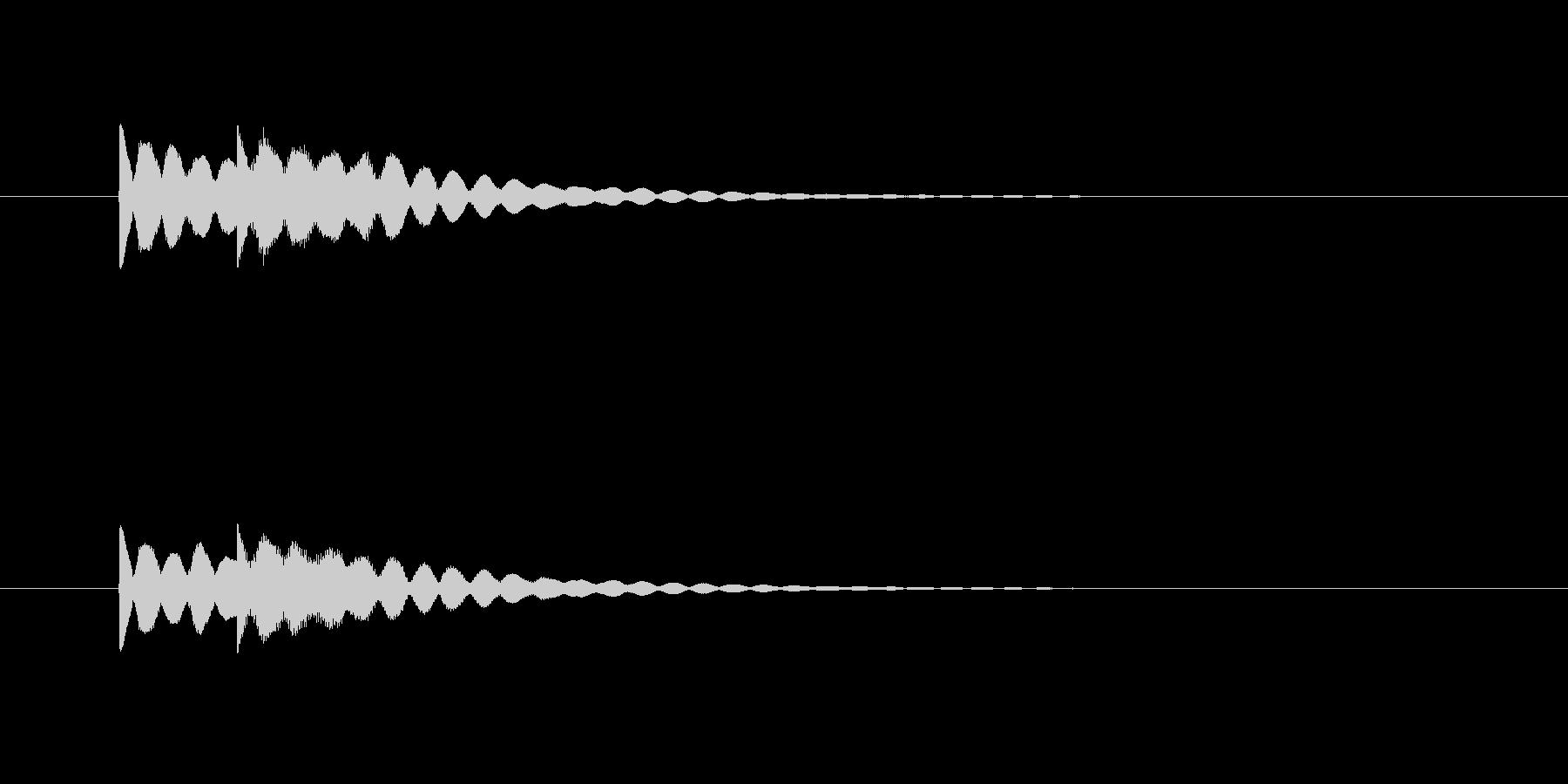 ピンポーン(明るくシンプルなチャイム音)の未再生の波形