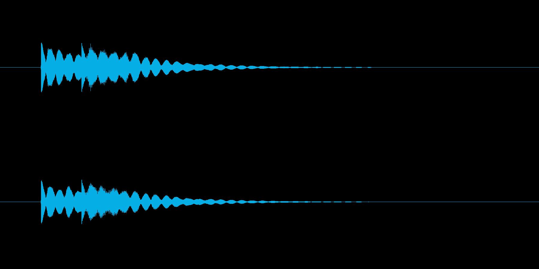 ピンポーン(明るくシンプルなチャイム音)の再生済みの波形