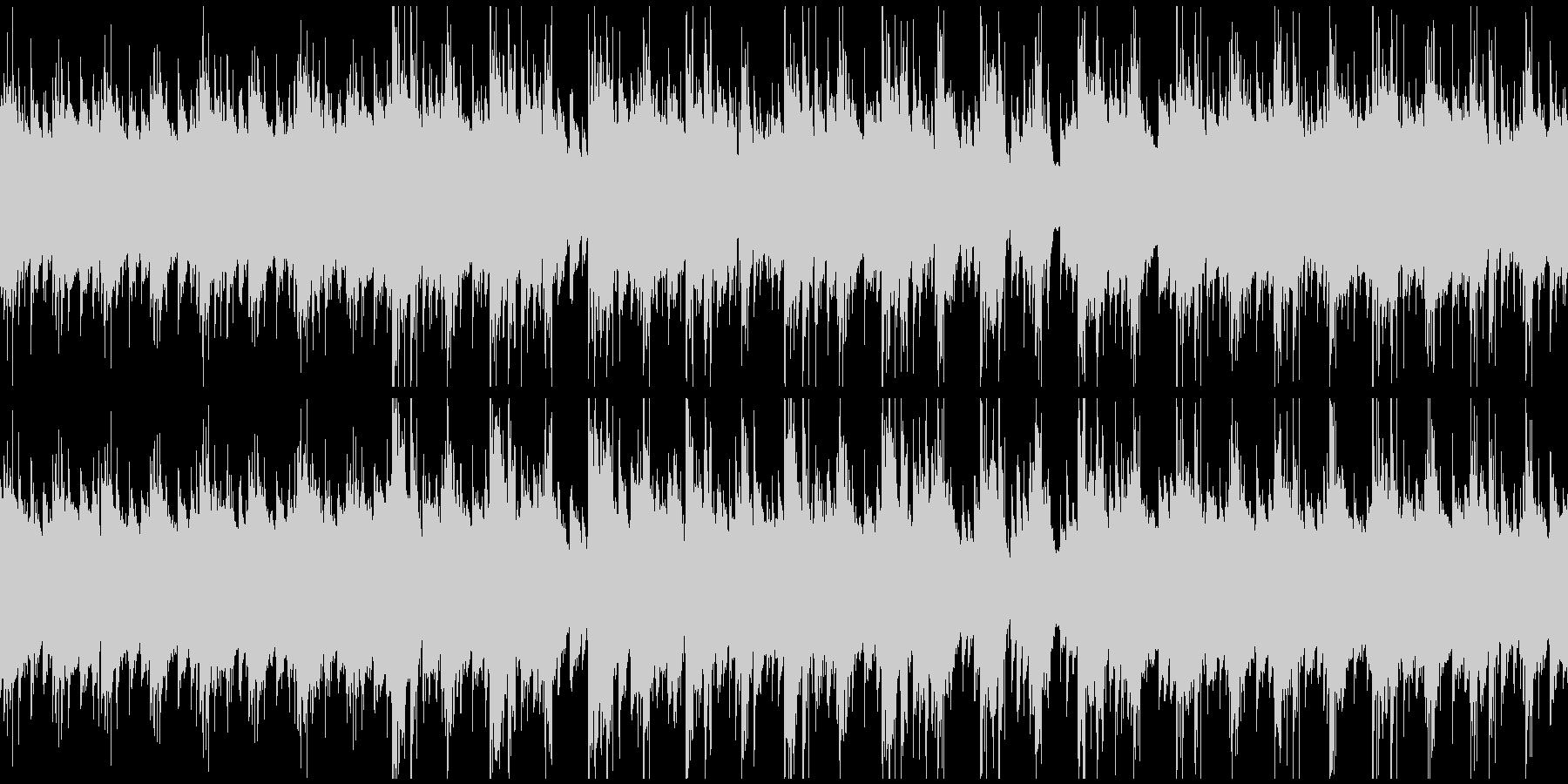 少し哀愁のある、スローテンポの前進する曲の未再生の波形