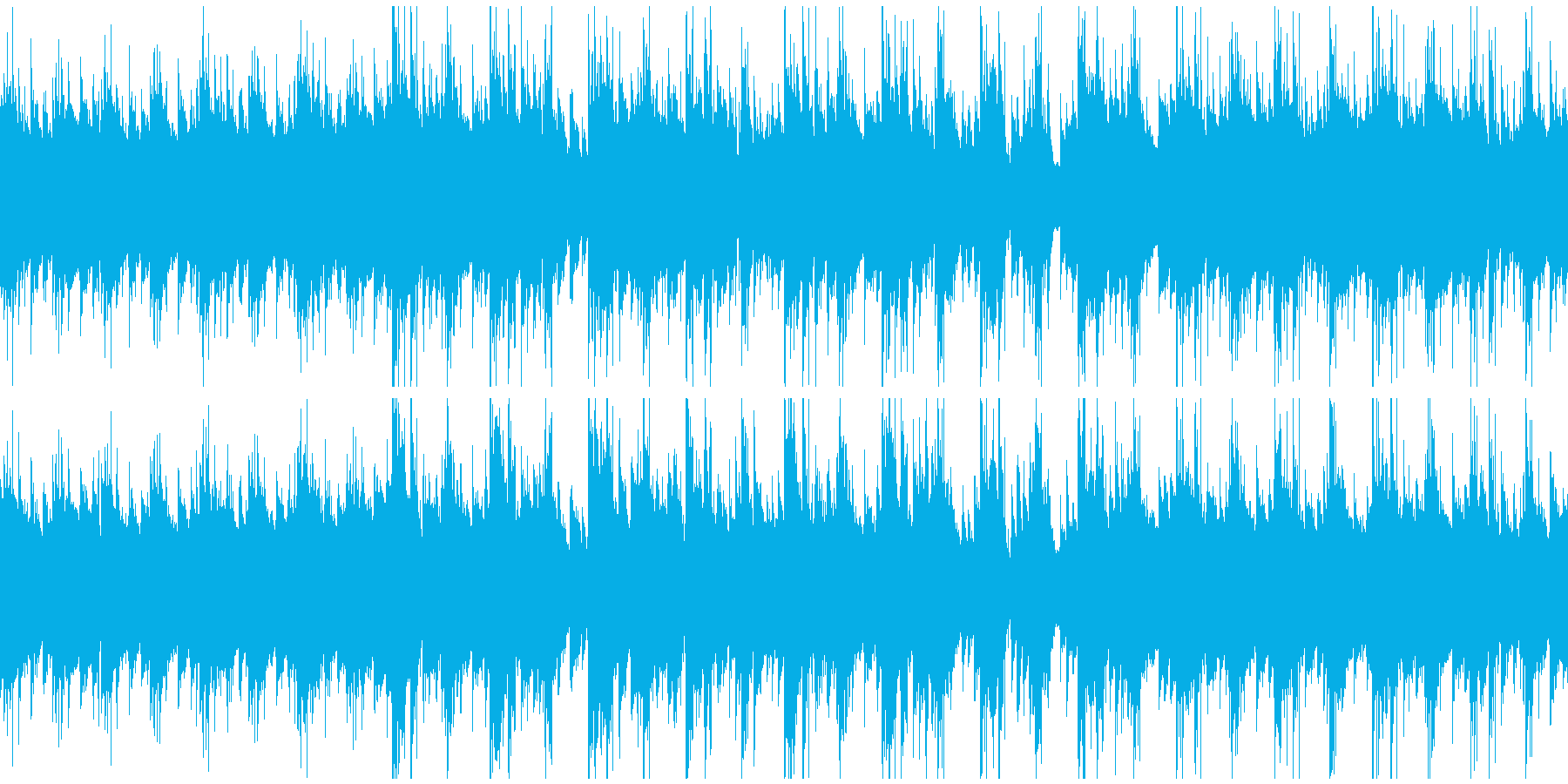 少し哀愁のある、スローテンポの前進する曲の再生済みの波形