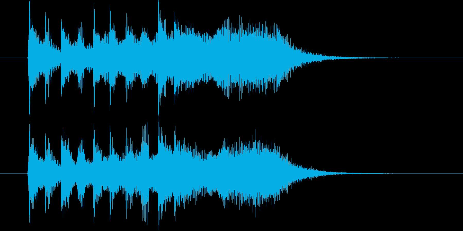オシャレで壮大な雰囲気のポップの再生済みの波形