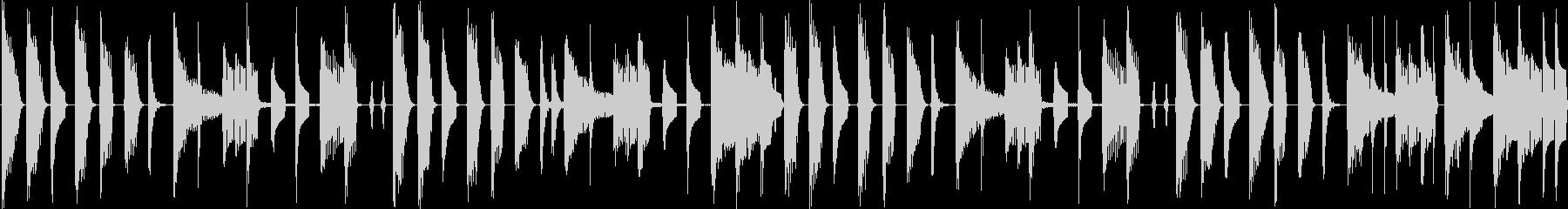 可愛らしい電子音が特徴のテクノポップの未再生の波形