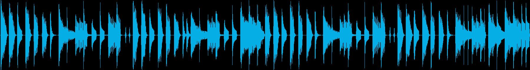 可愛らしい電子音が特徴のテクノポップの再生済みの波形
