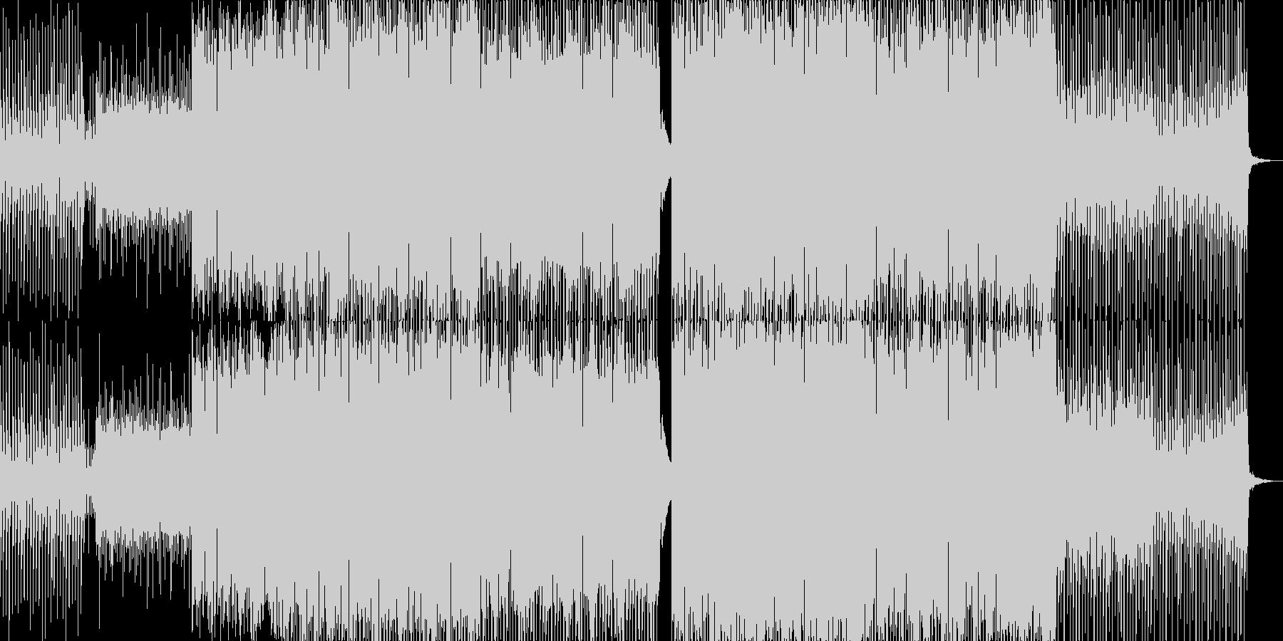 心地よい4つ打ちのリズムにシンセとピア…の未再生の波形