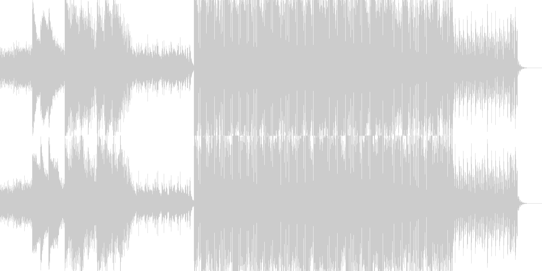 ピアノが主旋律のテクノの未再生の波形