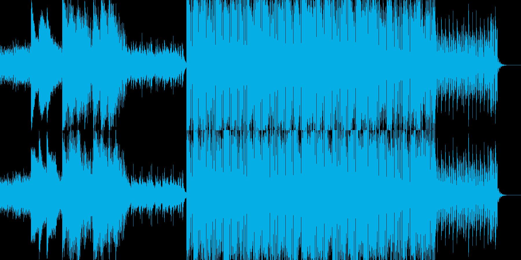 ピアノが主旋律のテクノの再生済みの波形