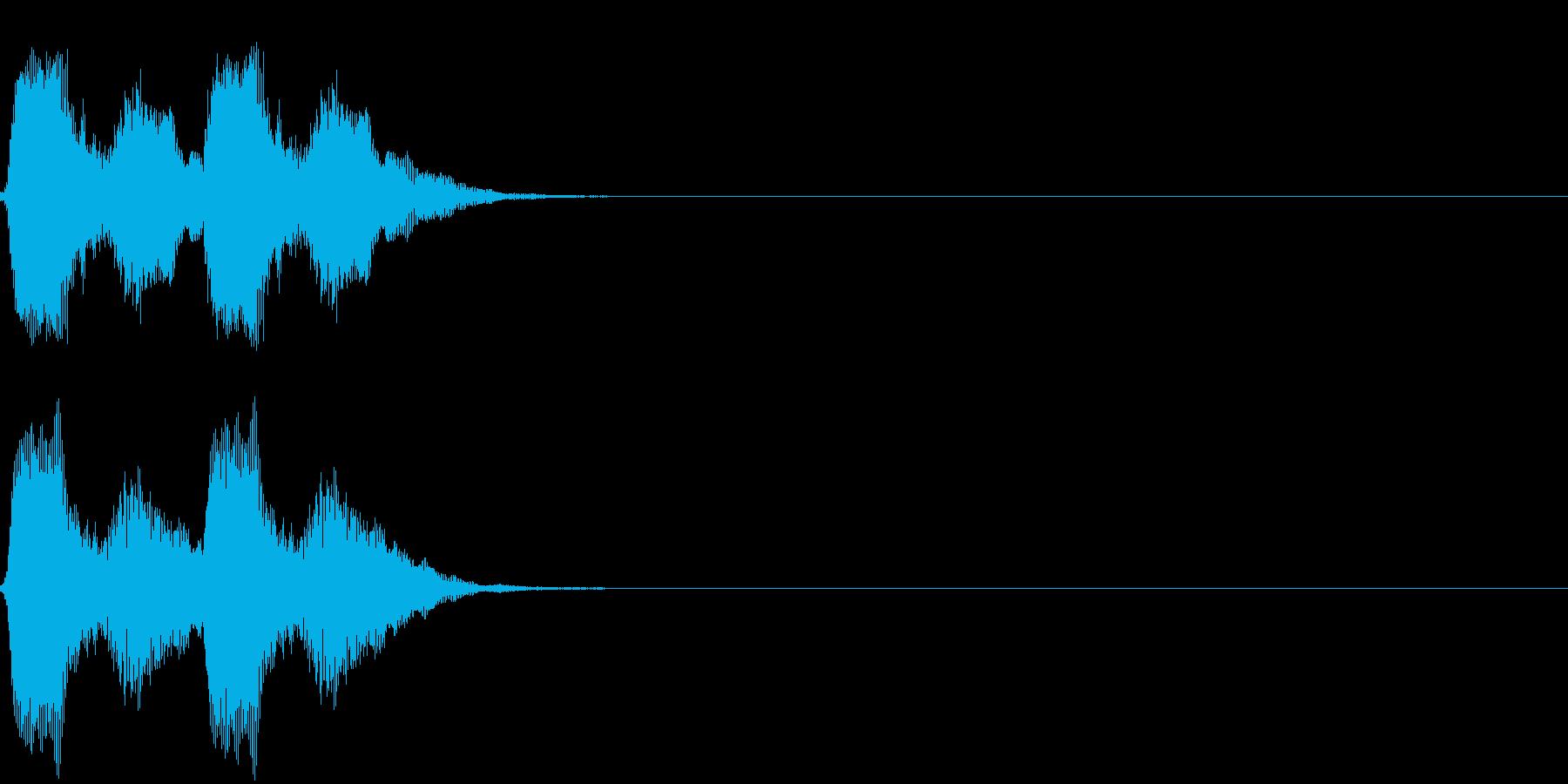 パフパフッの再生済みの波形