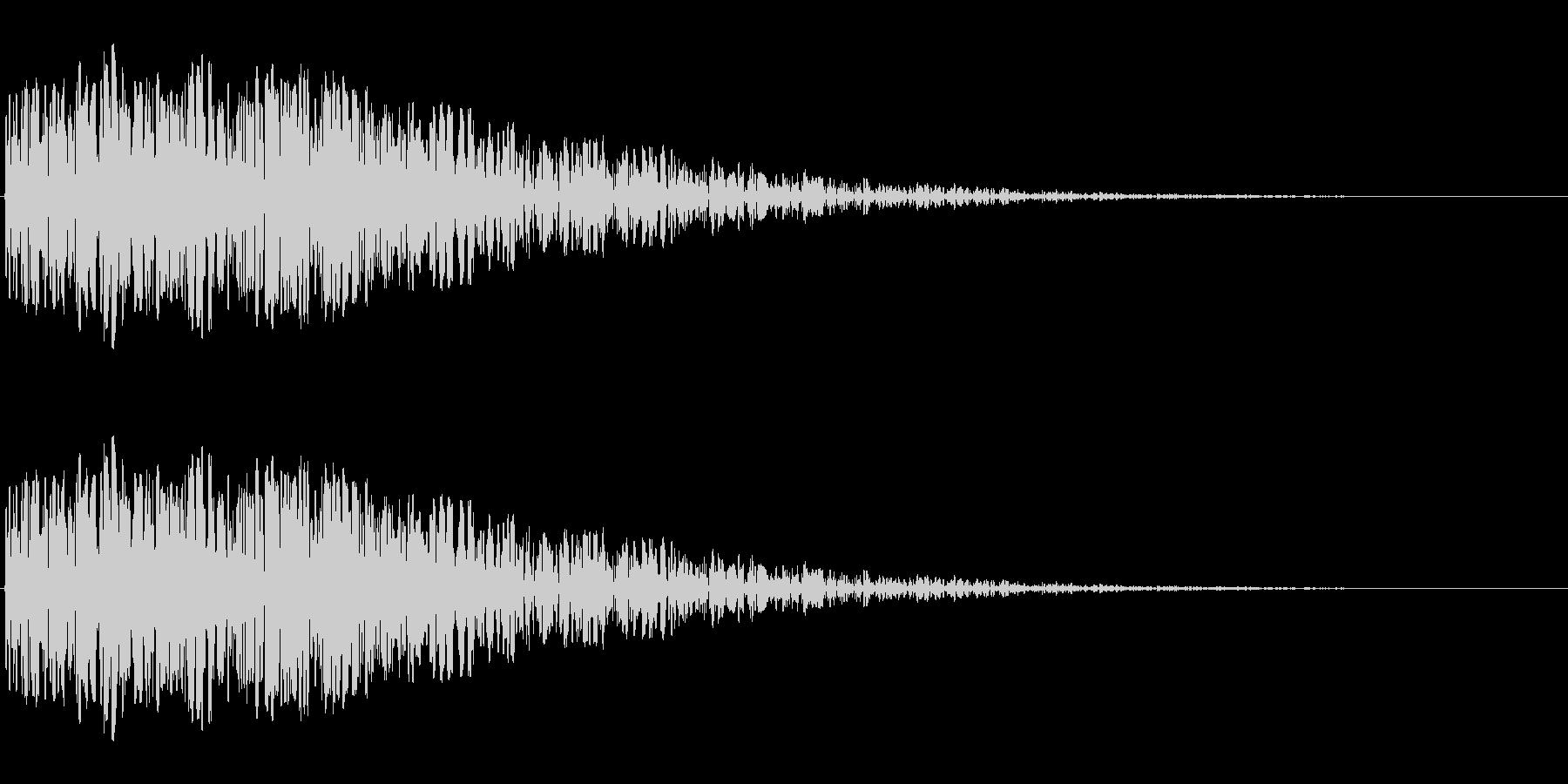昭和の特撮にありそうな衝撃音(ドン)の未再生の波形