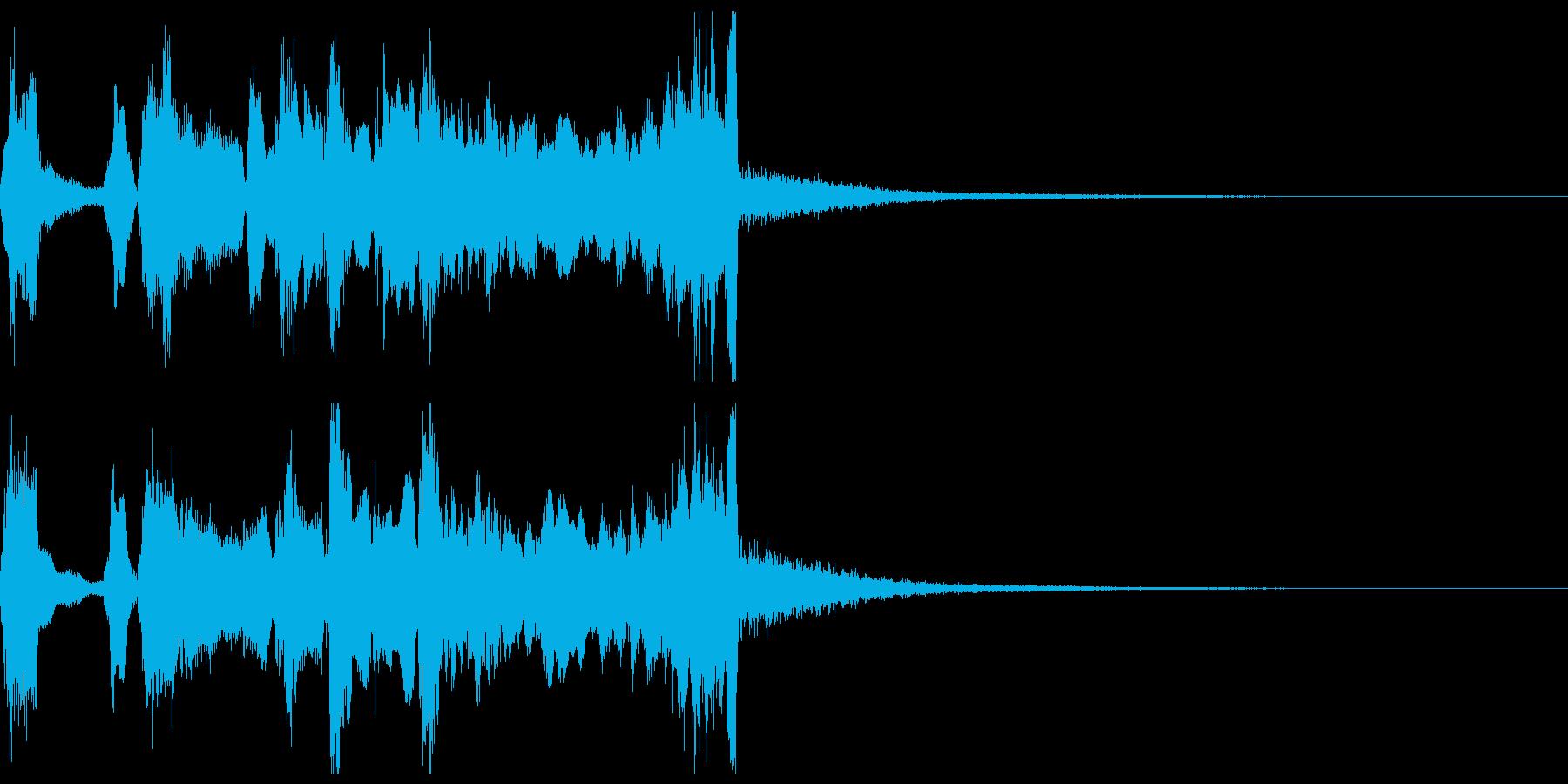 シンプルなファンファーレ2+ハモ+Drの再生済みの波形