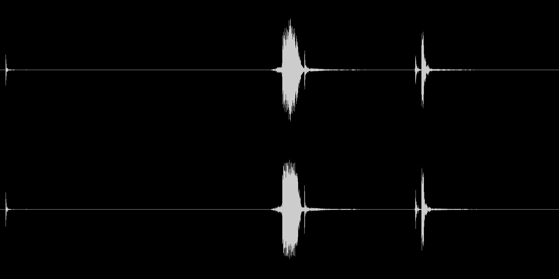 シュポッ(缶のプルタブを起こす時の音)の未再生の波形