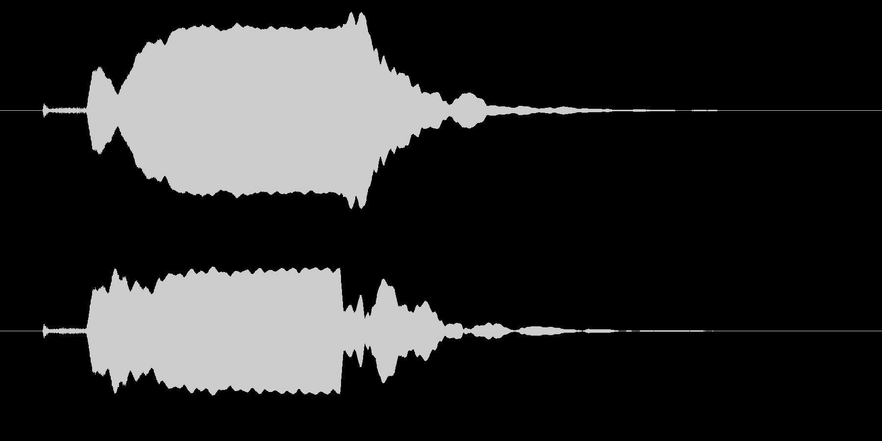 改札 ビープ音01-11(音色1 遠)の未再生の波形