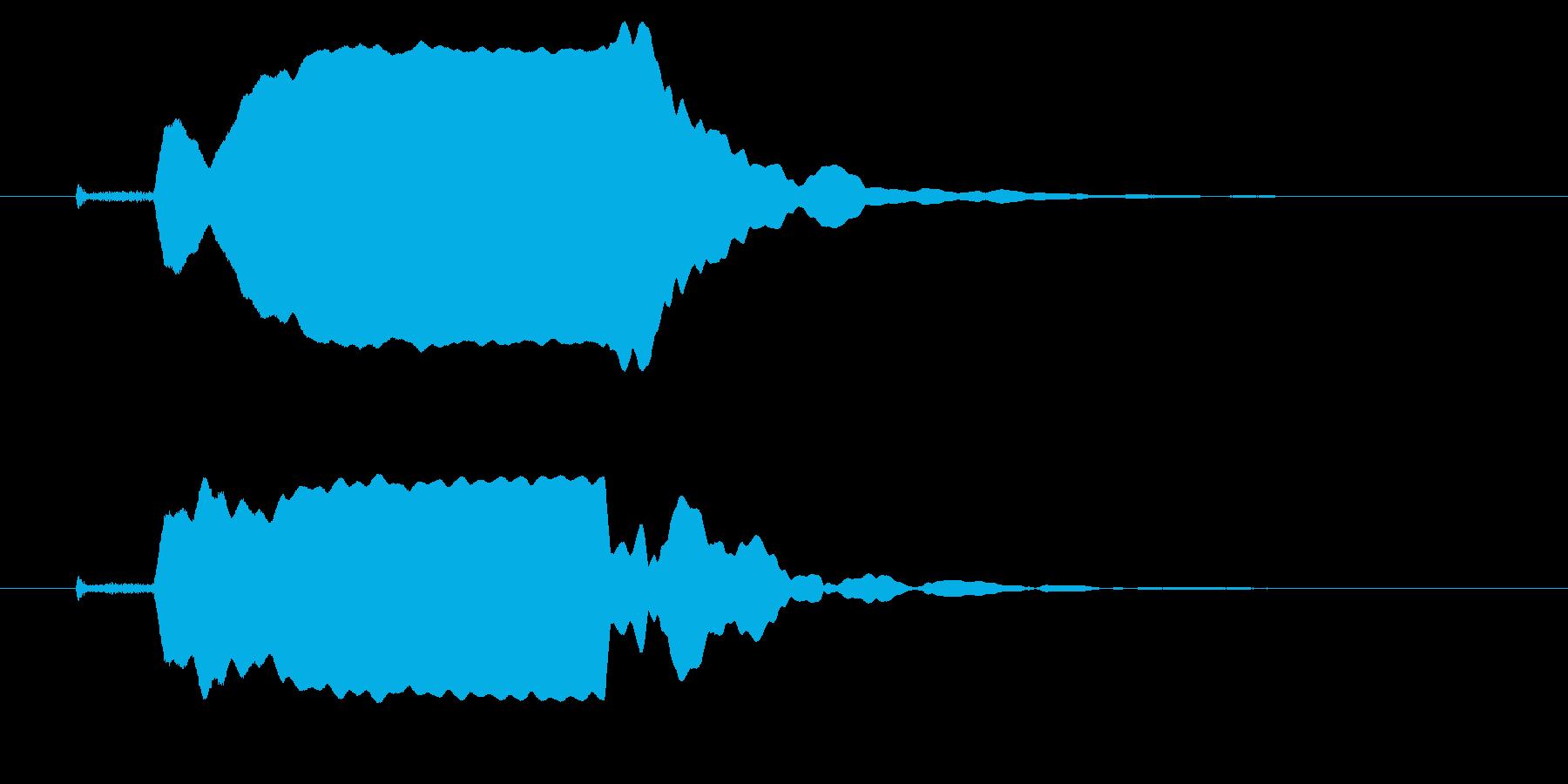 改札 ビープ音01-11(音色1 遠)の再生済みの波形