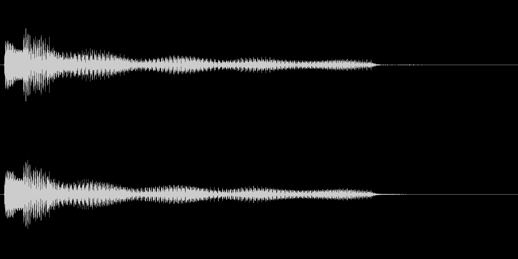 ポロロロン(ハープの低めグリス↓)の未再生の波形