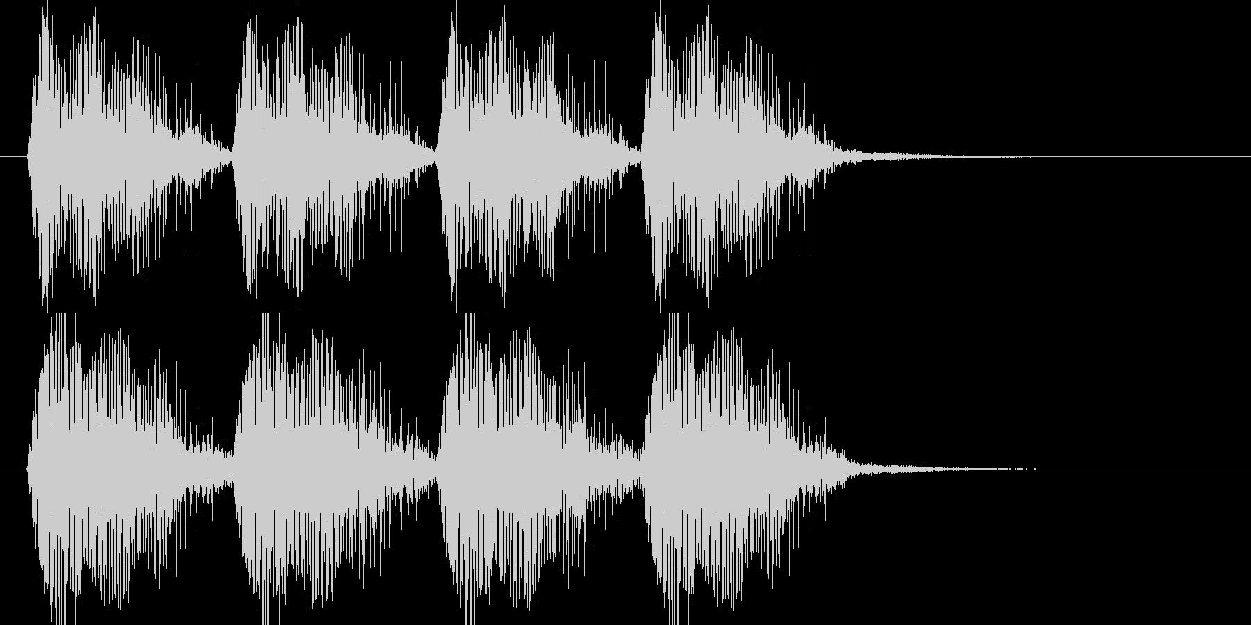 近未来的乗り物のサイレン音の未再生の波形