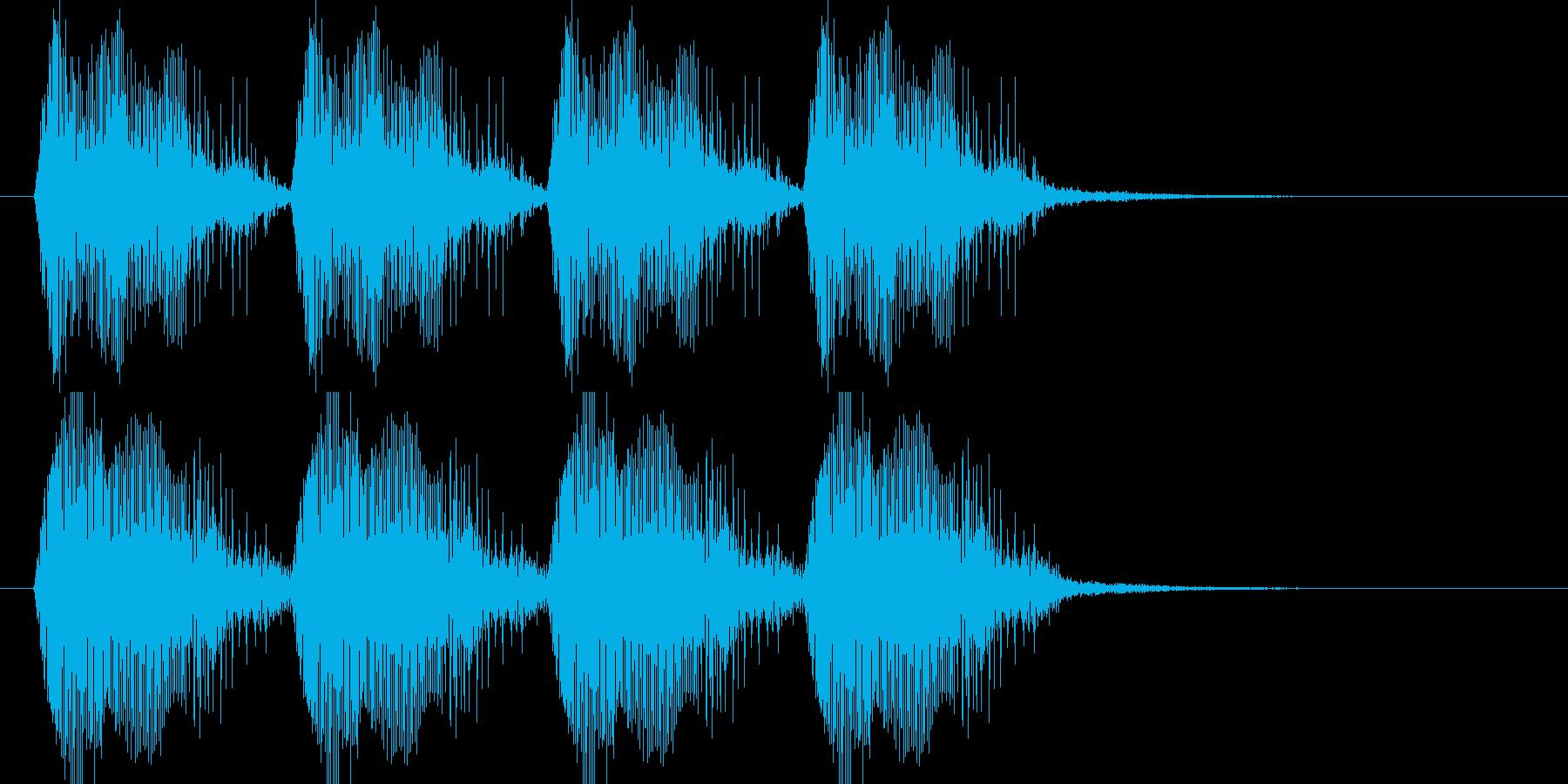 近未来的乗り物のサイレン音の再生済みの波形