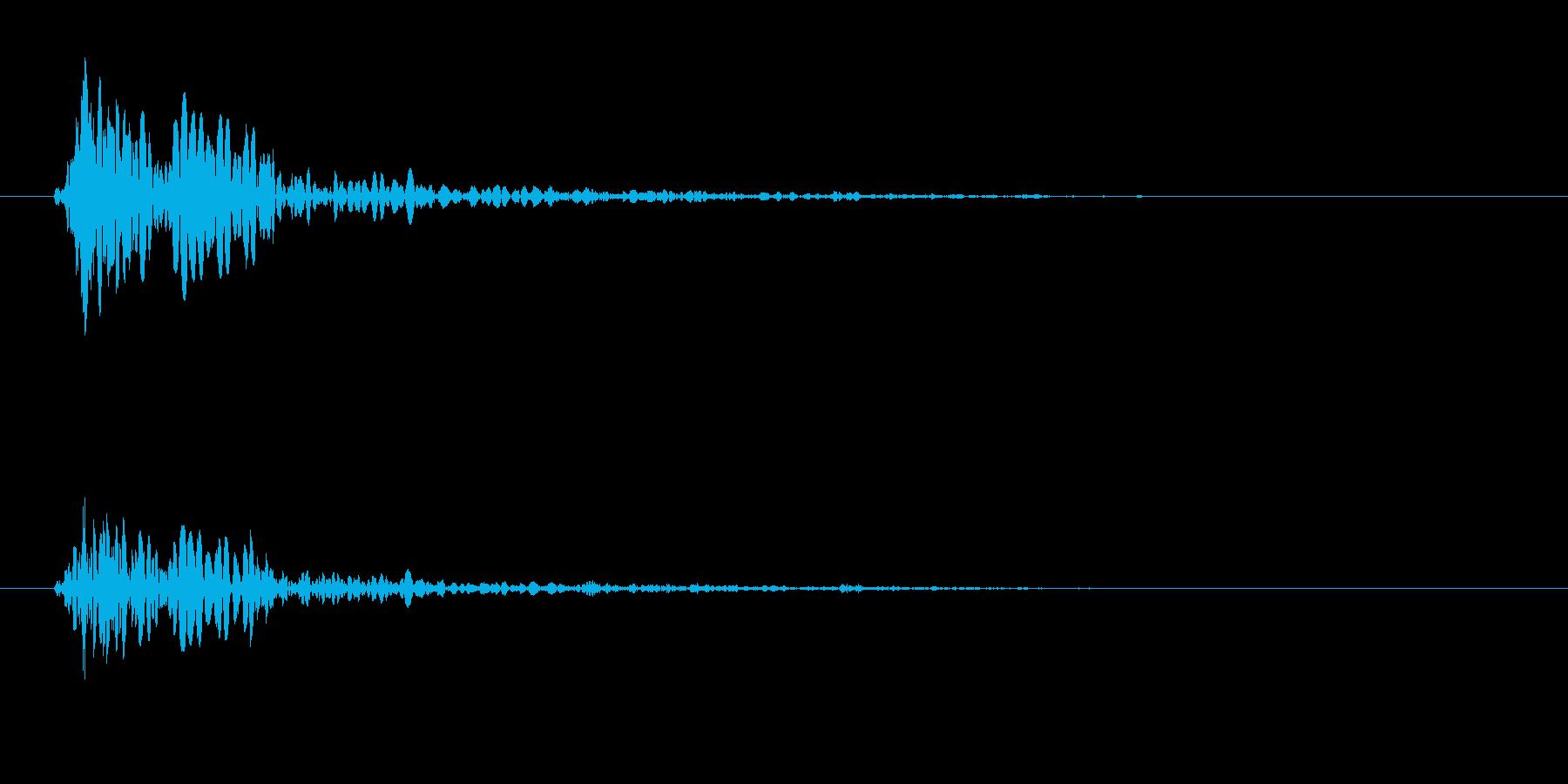 トン(木を叩く音06)の再生済みの波形