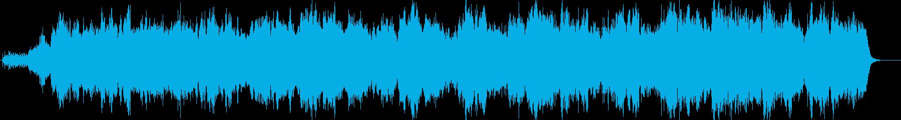 クラシック調のシンセサイザーによる曲の再生済みの波形