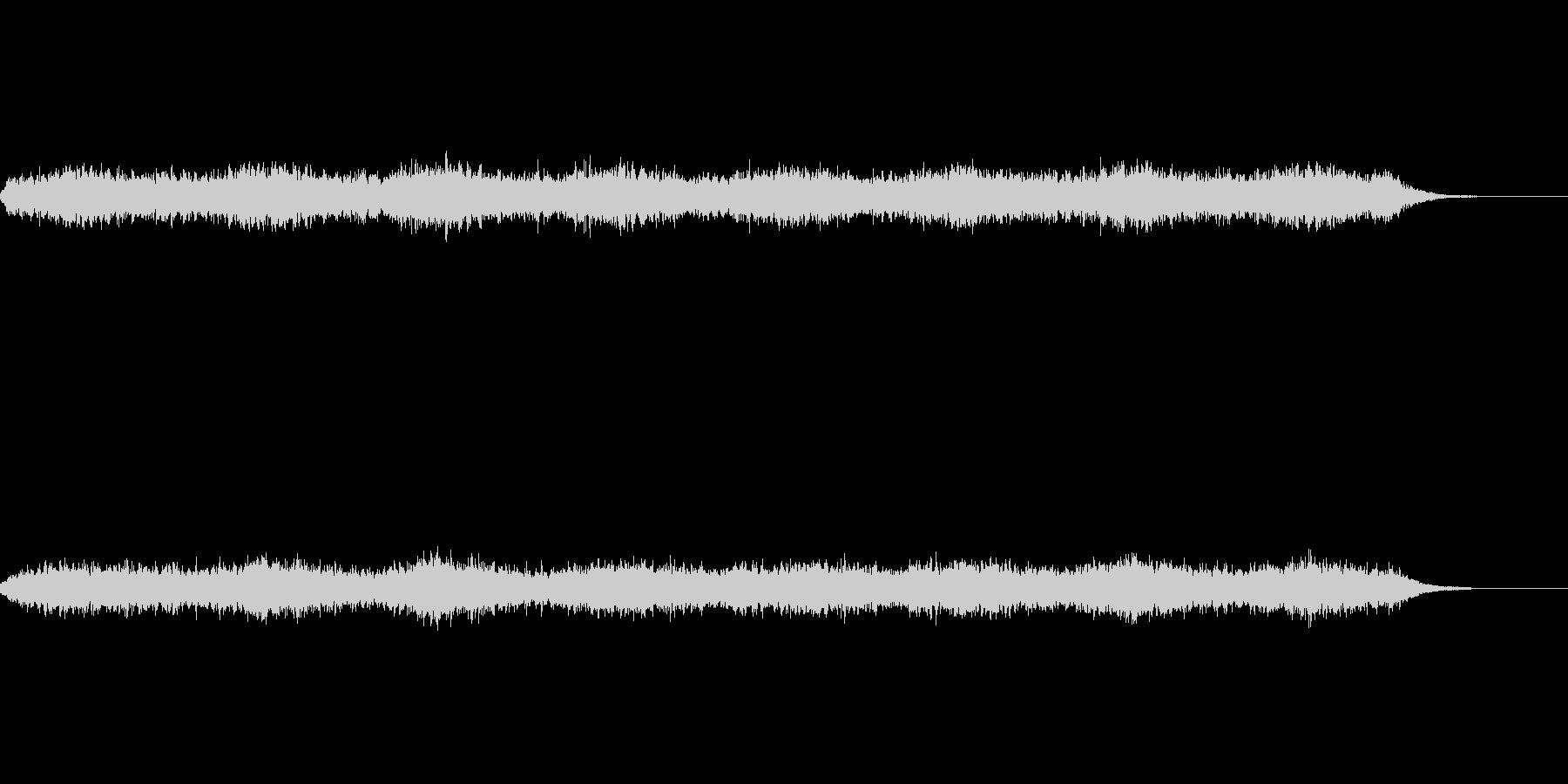 無限に上昇するように聞こえる効果音の未再生の波形