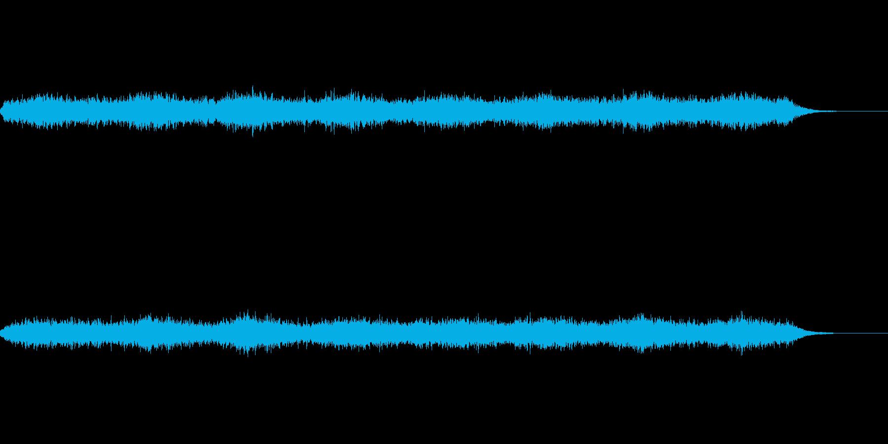 無限に上昇するように聞こえる効果音の再生済みの波形
