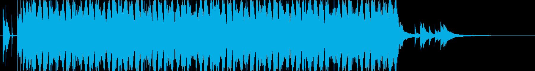 明るく前向きで短いEDM風ポップの再生済みの波形